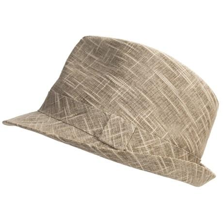 Country Gentleman Trilby Fedora Hat - Slub Linen-Cotton (For Men)