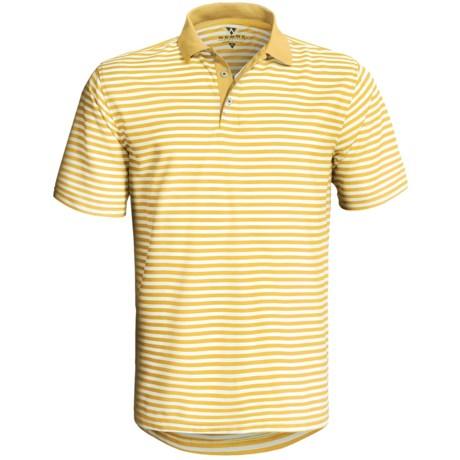 Wedge Athletic Tech Pique Polo Shirt - Short Sleeve (For Men)