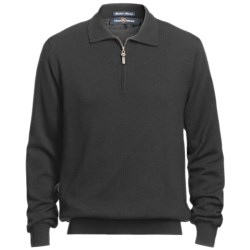 Chase Edward Baruffa Sweater - Merino Wool, Zip Neck, Lined (For Men)