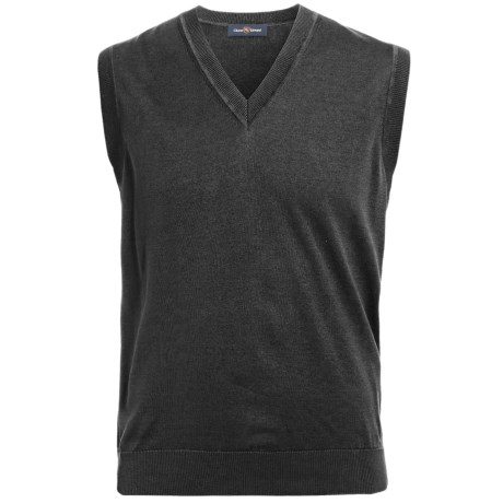 Chase Edward Pima Cotton Sweater Vest - V-Neck (For Men)