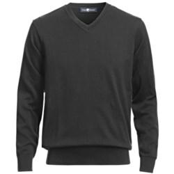 Chase Edward V-Neck Sweater - Pima Cotton (For Men)