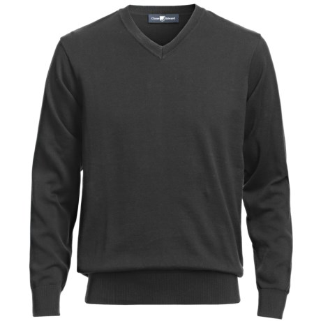 Chase Edward V-Neck Sweater - Pima Cotton (For Men)
