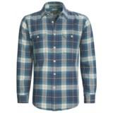 Cotton Flannel Plaid Shirt - Long Sleeve (For Men)