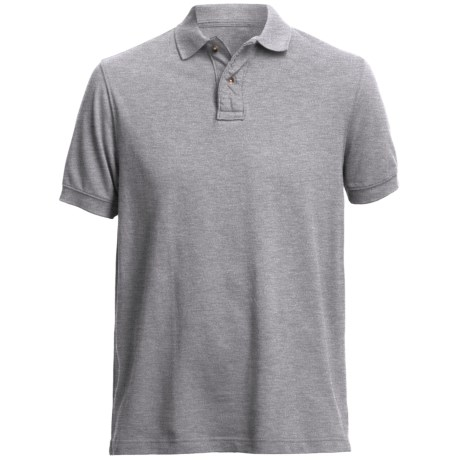 Pique Polo Shirt - Short Sleeve (For Men)