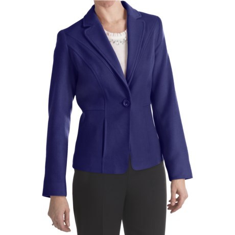 Louben Luxe Wool-Cashmere Blazer (For Women)