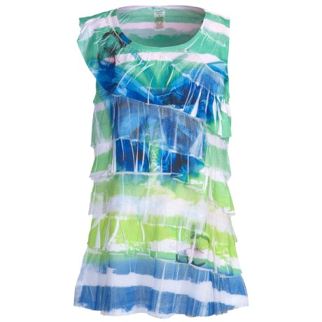Layered Tie-Dye Tank Top (For Girls)