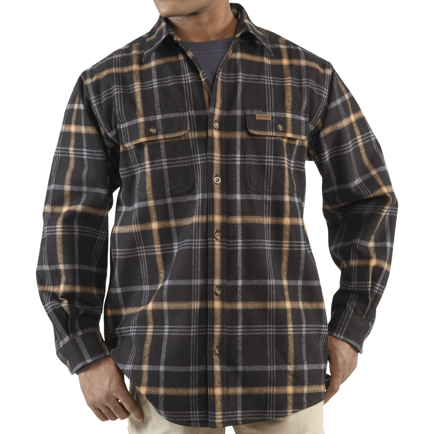 carhartt youngstown flannel shirt jacket for tall men 5623p