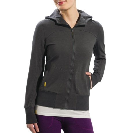 Lole Cooldown 2 Hooded Cardigan Sweater - Eco Tech Fleece (For Women)