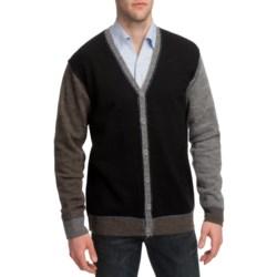 Martin Gordon Color-Block Cardigan Sweater - Wool, V-Neck (For Men)