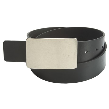 American Beltway Leather Belt - Nickle Plaque Buckle (For Men)