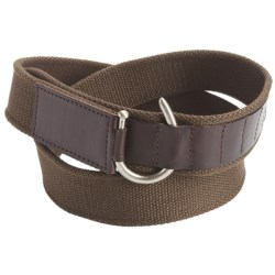 American Beltway Canvas and Leather Belt (For Men)