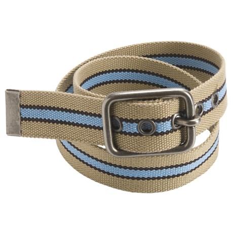 American Beltway Striped Web Belt (For Men)