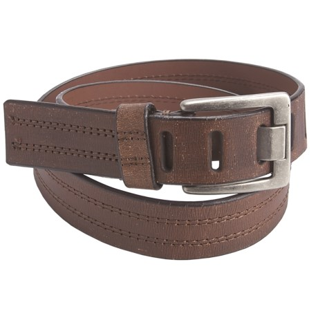 American Beltway Double-Stitched Leather Belt (For Men)