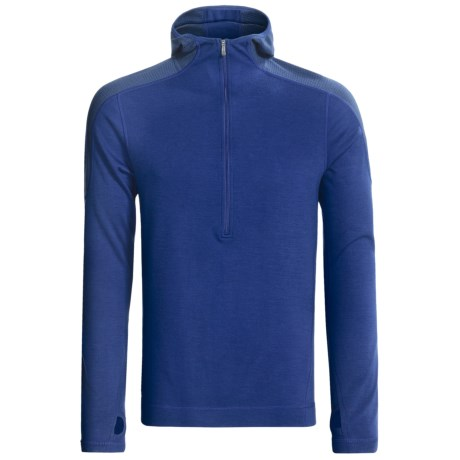 SmartWool NTS Midweight Base Layer Hoodie Sweatshirt - Merino Wool, Zip Neck (For Men)