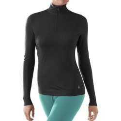 SmartWool NTS Lightweight Zip Neck Shirt - UPF 35, Merino Wool, Long Sleeve (For Women)