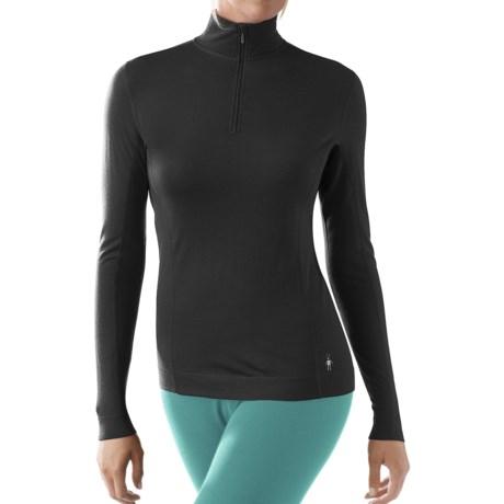 SmartWool NTS Lightweight Zip Neck Shirt - UPF 35, Merino Wool, Long Sleeve (For Women)