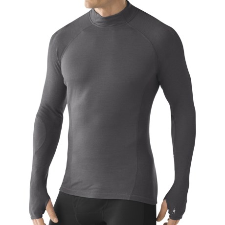 SmartWool NTS Lightweight Mock Neck Base Layer Top - Merino Wool, Long Sleeve (For Men)