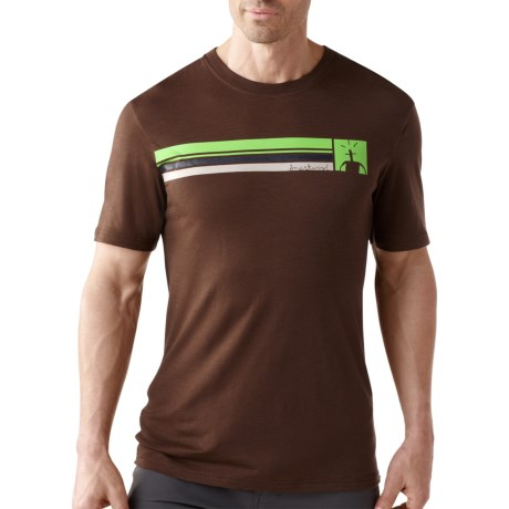 SmartWool Logo Stripe T-Shirt - UPF 20, Merino Wool, Short Sleeve (For Men)