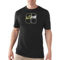 SmartWool Mountain Script T-Shirt - UPF 20, Merino Wool, Short Sleeve (For Men)