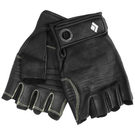 Black Diamond Equipment Stone Climbing Gloves - Fingerless (For Men and Women)