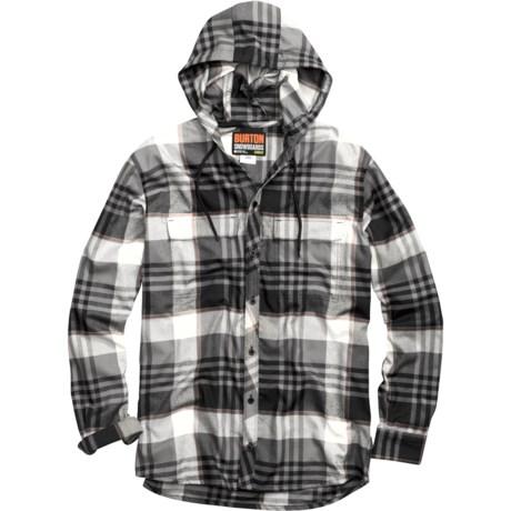 Burton Ruckus DryRide Hooded Flannel Shirt - Long Sleeve (For Men)