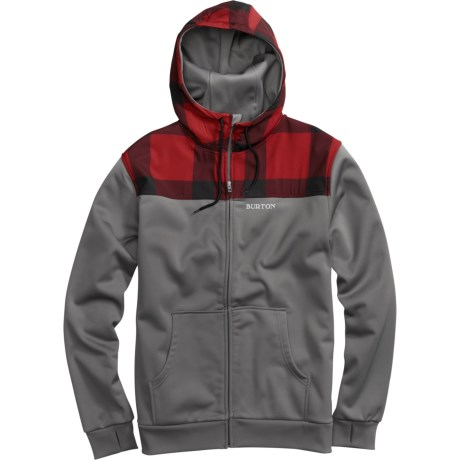 Burton Shell Hoodie Sweatshirt - Full Zip (For Men)