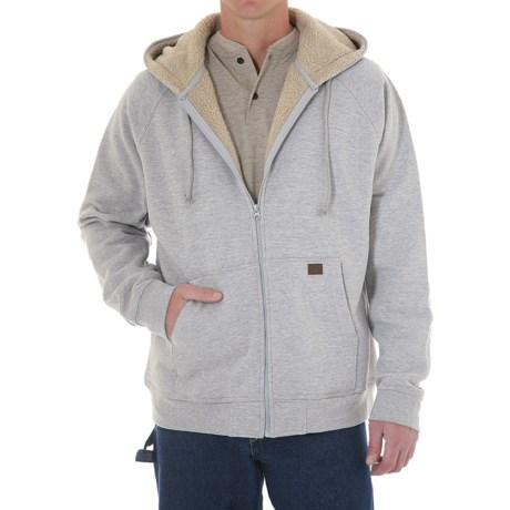Riggs Workwear by Wrangler Zip Hooded Sweatshirt - Sherpa Lined (For Men)