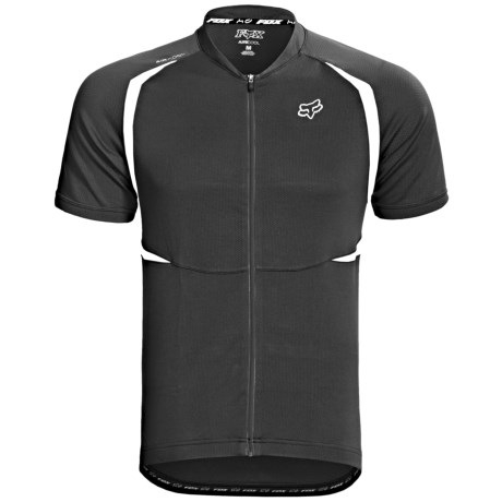Fox Racing Aircool Mountain Bike Jersey - Full Zip, Short Sleeve (For Men)