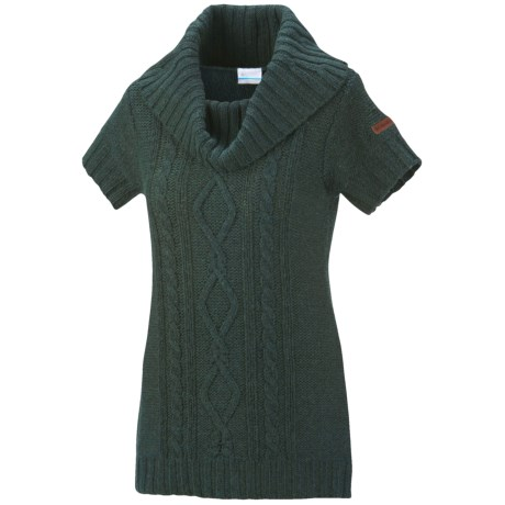 Columbia Sportswear Cabled Cutie Tunic Sweater - Cowl Neck, Short Sleeve (For Women)