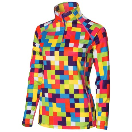 Neve Moraine Base Layer Top - Zip Neck, Long Sleeve (For Women)