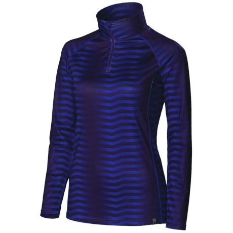 Neve Couloir Base Layer Top - Zip Neck, Long Sleeve (For Women)