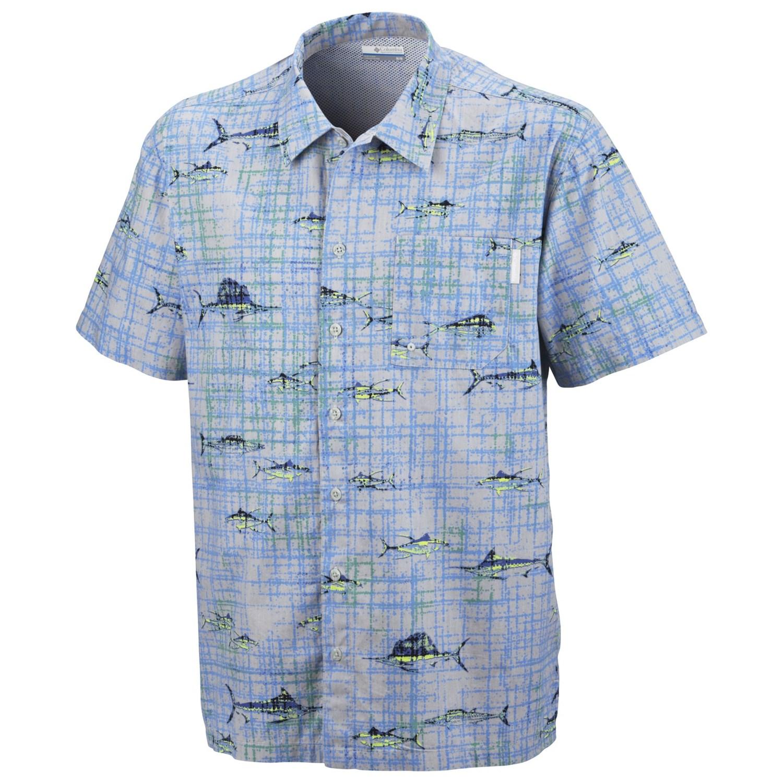 Columbia sportswear trollers best pfg shirt for men 5648t for Columbia cotton fishing shirt