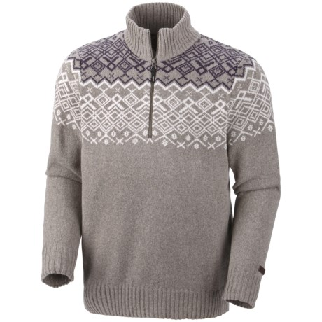 Columbia Sportswear Fair Isle Rotifer Sweater - Zip Neck (For Men)
