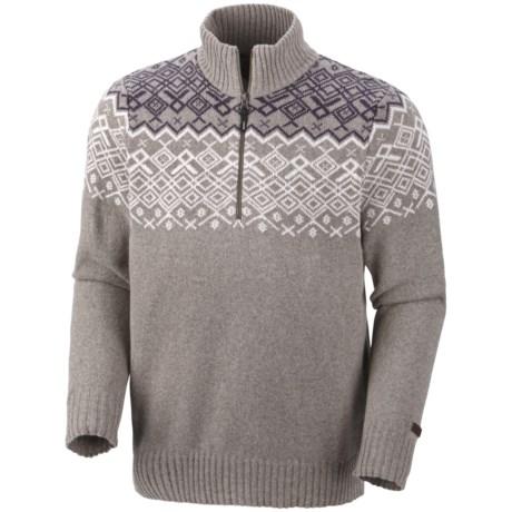 Columbia Sportswear Fair Isle Rotifer Sweater - Zip Neck (For Men)