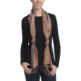 Asian Eye Mardi Gras Striped Scarf - Viscose