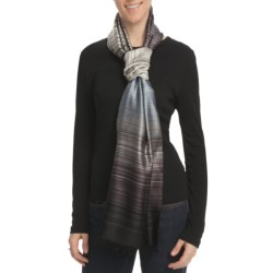 Asian Eye Ritz Stripe Scarf - Silk-TENCEL®