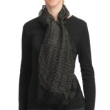 Asian Eye Pacific Sheer Woven Textured Scarf - Silk