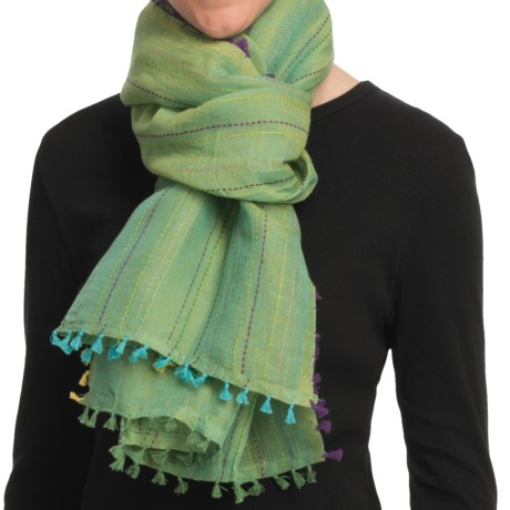 Asian Eye Cabo Scarf - Cotton-Linen (For Women)