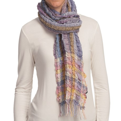 Asian Eye Picante Hi-Textured Striped Scarf - Cotton-TENCEL® (For Women)