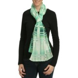 Asian Eye Meteor Scarf - Cotton-Silk (For Women)