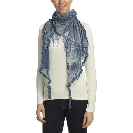 Asian Eye Flamenco Scarf - Lace Fringe (Women)