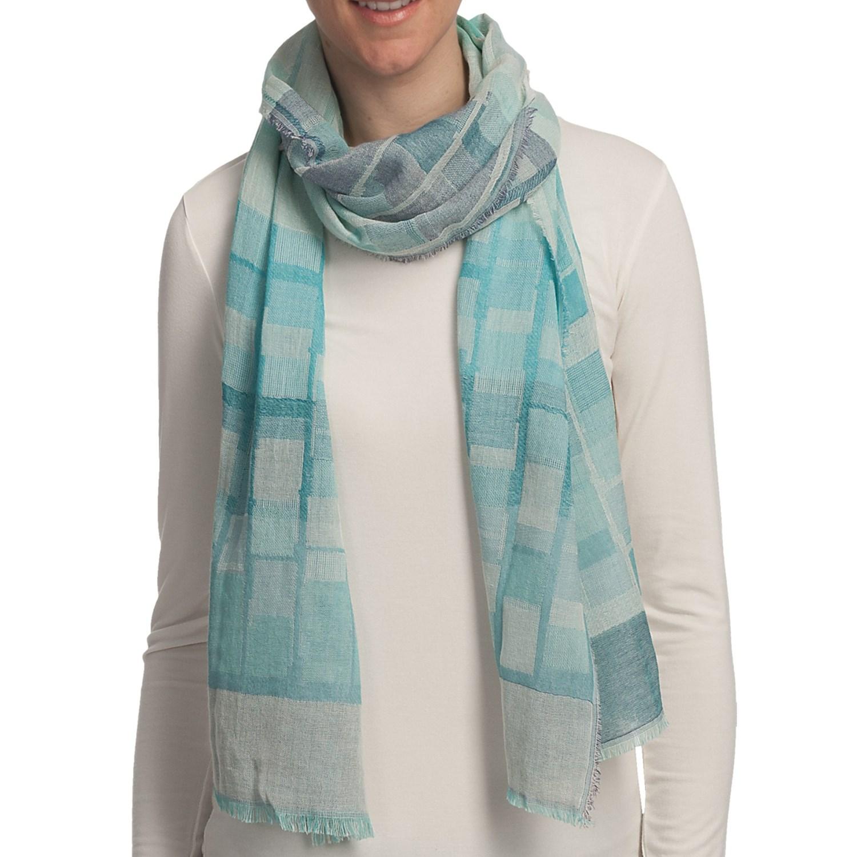 asian eye escala cotton jacquard scarf 5658t save 54