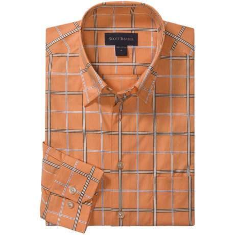 Scott Barber Spring Andrew Windowpane Sport Shirt - Long Sleeve (For Men)