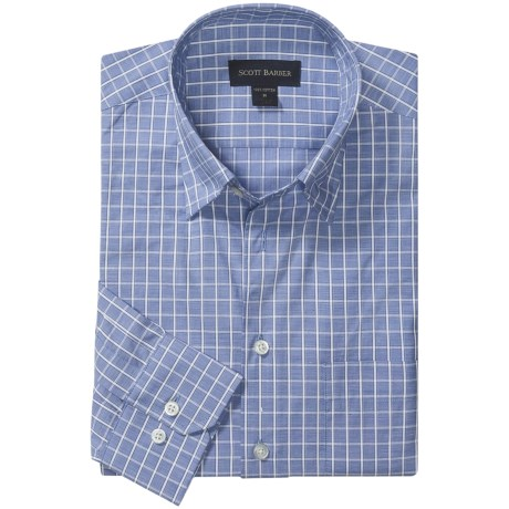 Scott Barber Spring Andrew Check Sport Shirt - Hidden Button Down, Long Sleeve (For Men)
