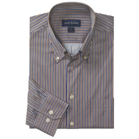 Scott Barber Spring James Track Stripe Sport Shirt - Long Sleeve (For Men)
