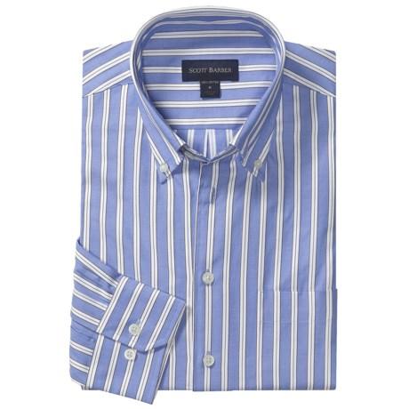 Scott Barber Spring James Stripe Sport Shirt - Cotton, Long Sleeve (For Men)