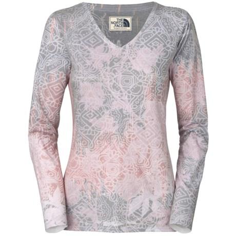 The North Face Leafline T-Shirt - V-Neck, Long Sleeve (For Women)