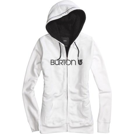Burton Her Logo Hoodie Sweatshirt - Full Zip, Sherpa Lining (For Women)