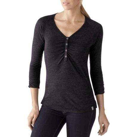 SmartWool Henley Shirt - Merino Wool, 3/4 Sleeve (For Women)