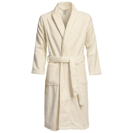 Luxury Spa Robe - Egyptian Cotton, Long Sleeve (For Men)